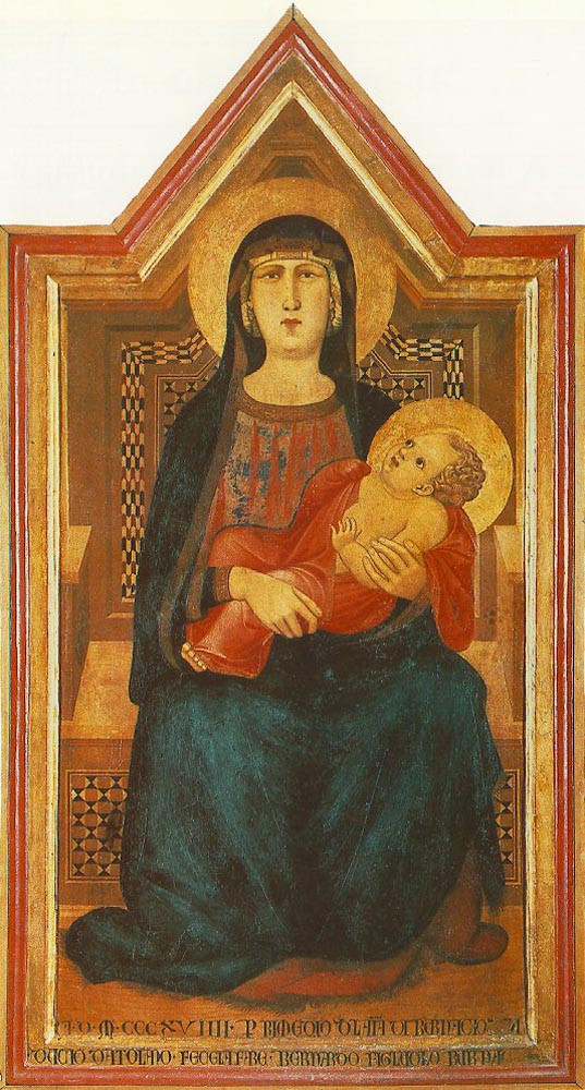 Madonna of Vico lAbate by Ambrogio Lorenzetti