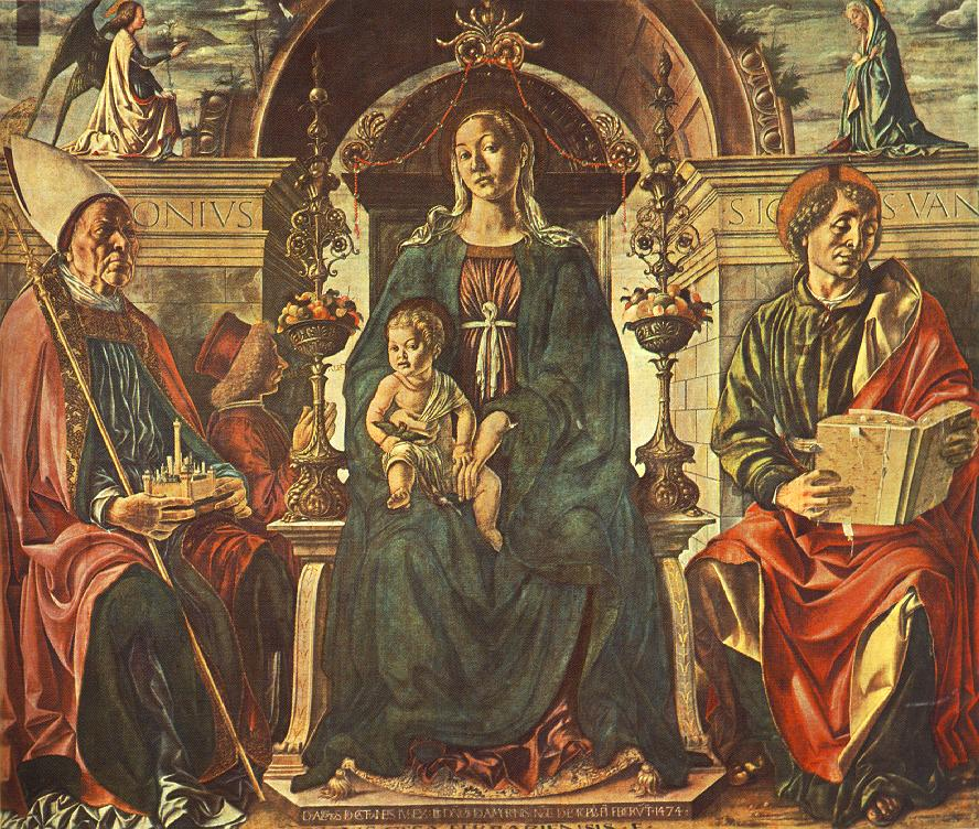 Madonna with the Child and Saints by Francesco del Cossa