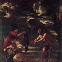 Odysseus and Nausicaa by Salvator Rosa