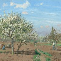 Orchard in Bloom at Louveciennes by Camille Pissarro
