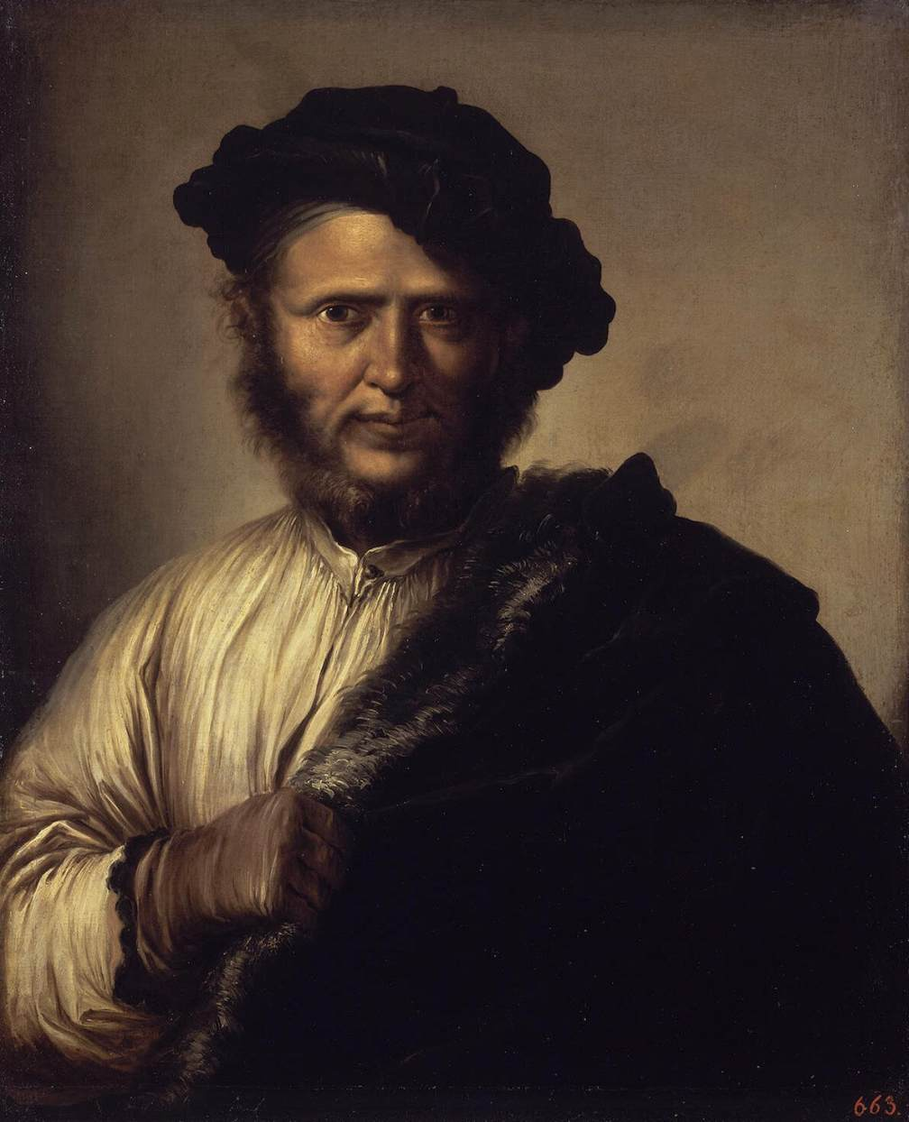 Portrait of a Man by Salvator Rosa