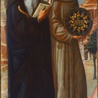 Saint Anthony Abbot and Saint Bernardino of Siena by Jacopo Bellini