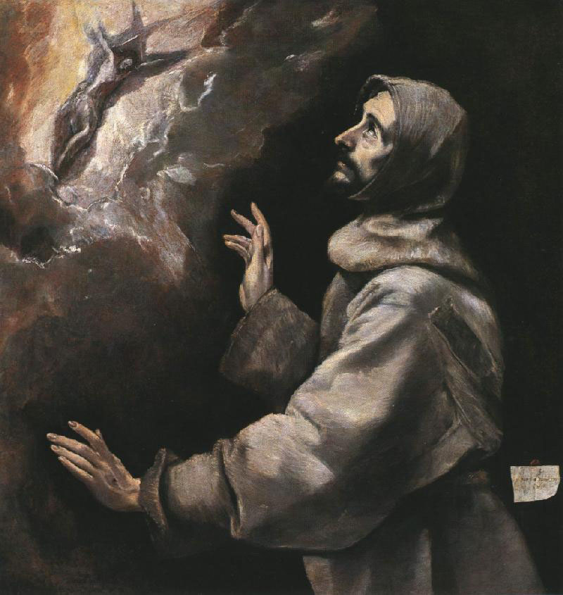 Saint Francis receiving the Stigmata by El Greco