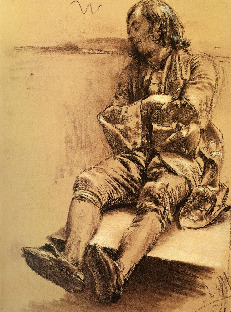 Schlafender by Adolph von Menzel