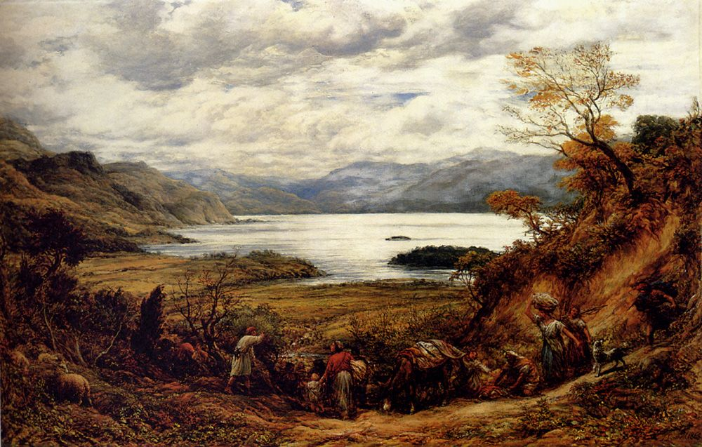 The Emigrants, Derwent Water, Cumberland by John Linnell