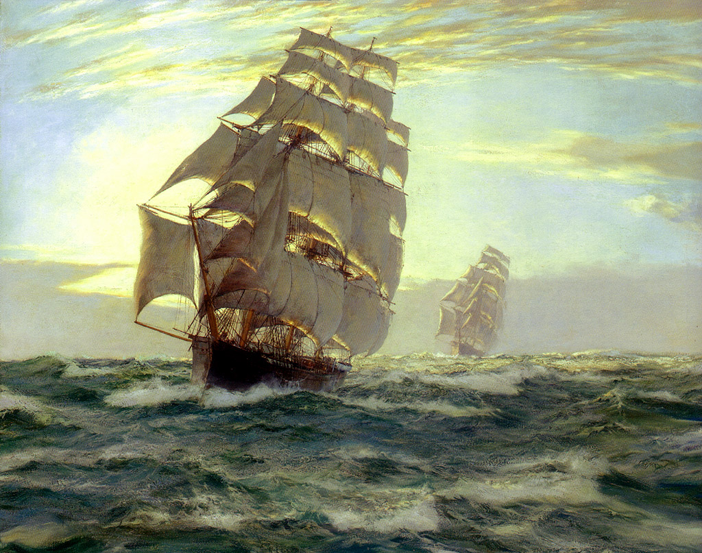 The Flying Cloud by Montague Dawson