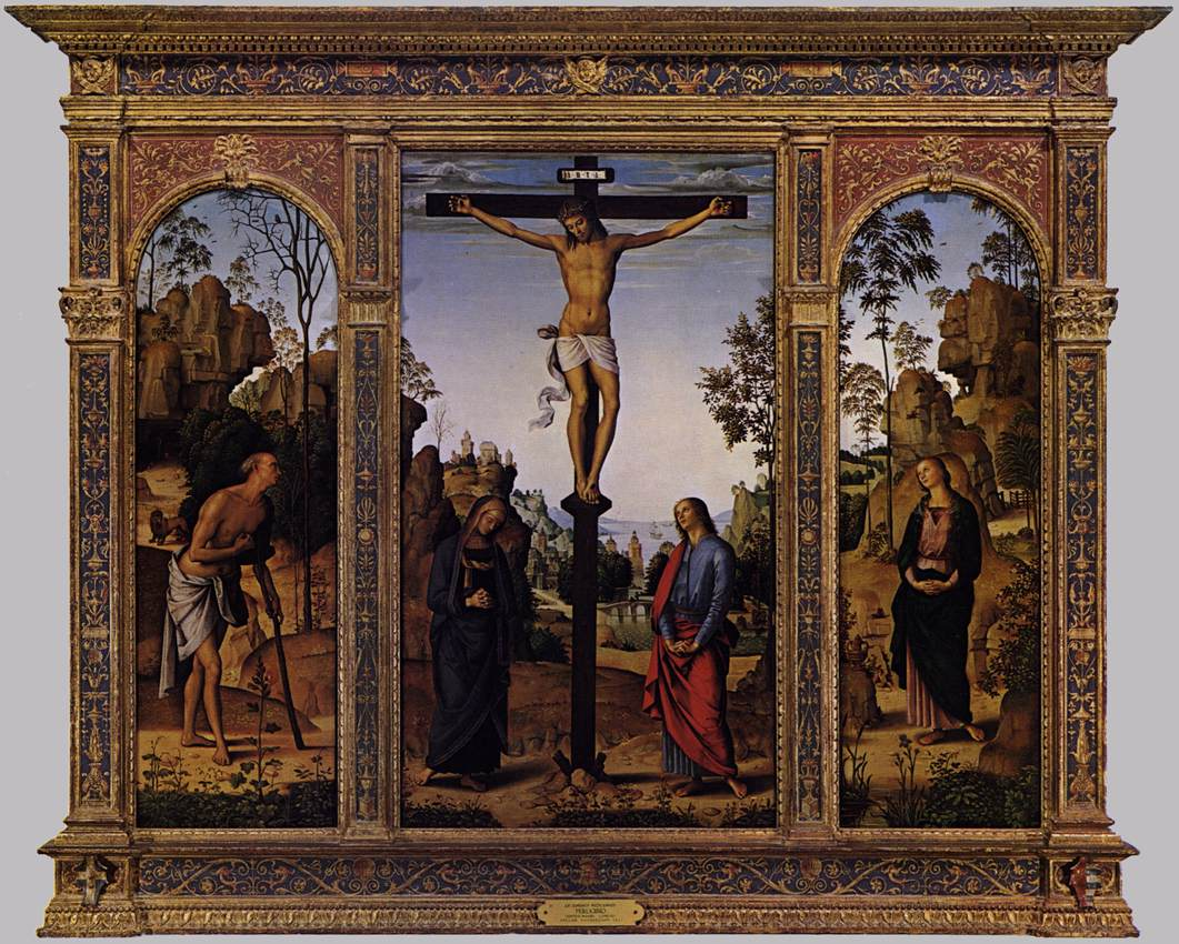 The Galitzin Triptych by Pietro Perugino