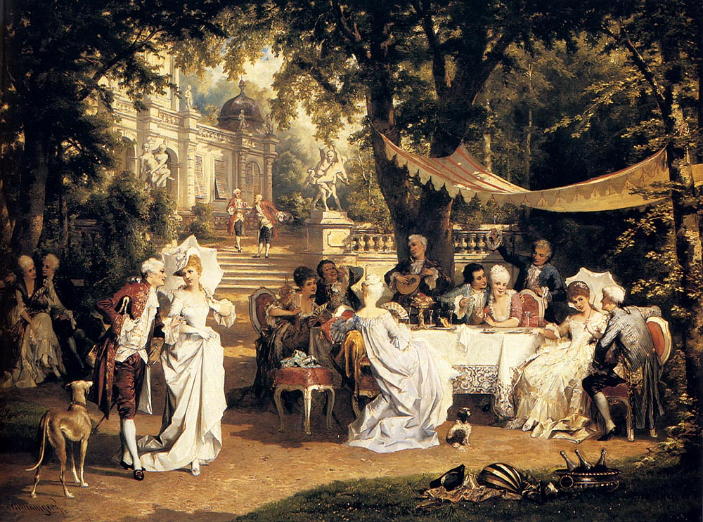 The Garden Party by Carl Schweninger Jr