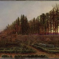 The Gloaming a manse garden in Berwickshire by William Bell Scott