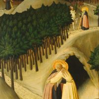 The Meeting of St. Anthony and St. Paul by Sassetta