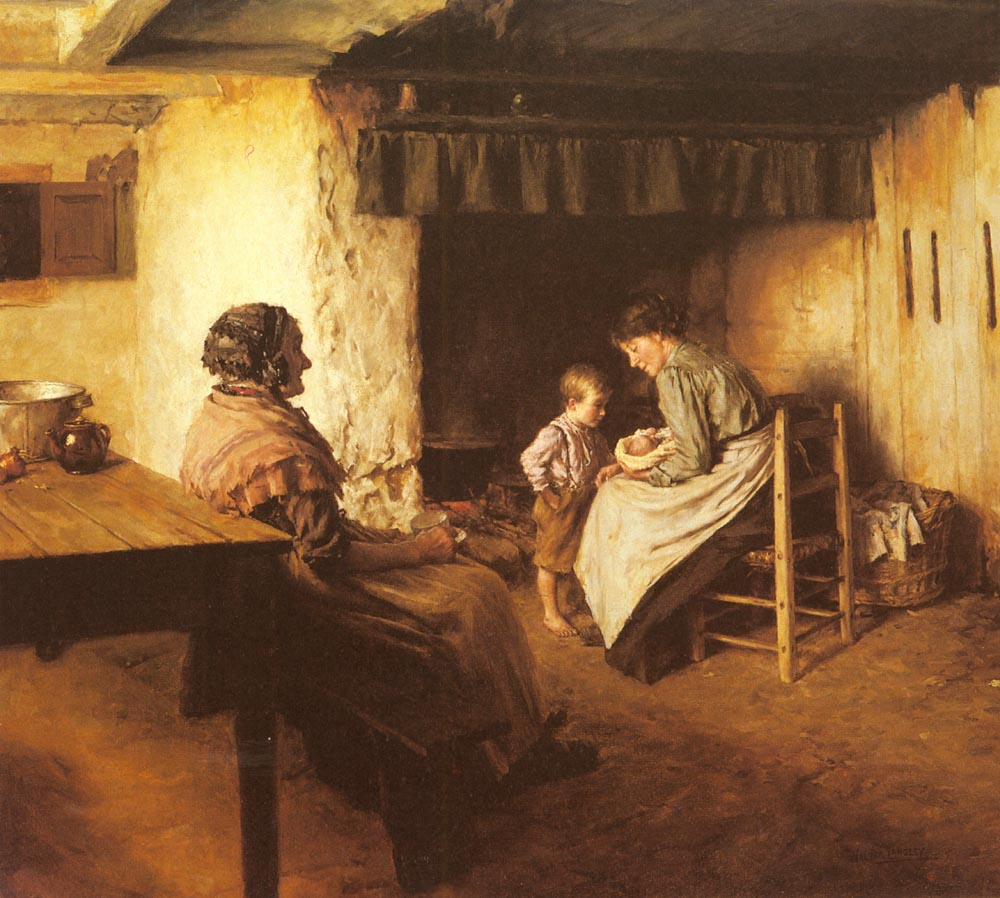 The New Arrival by Walter Langley