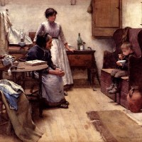 The Orphan by Walter Langley