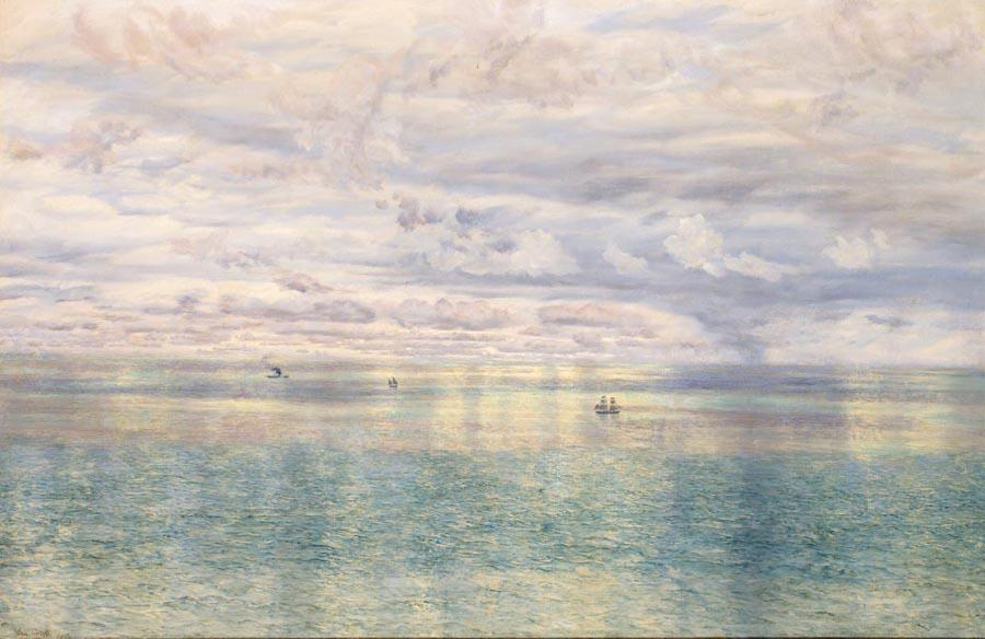 The Sicilian Sea From the Taormina Cliffs by John Brett