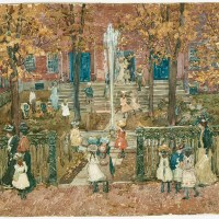 West Church, Boston by Maurice Brazil Prendergast