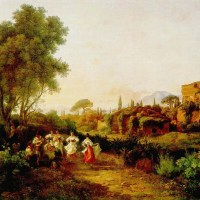 Wine Harvest (Tarantella) by Karoly, the Elder Marko