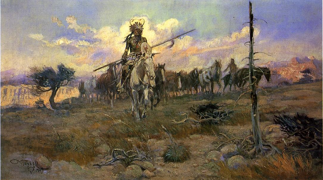 Bringing Home the Spoils by Charles Marion Russell