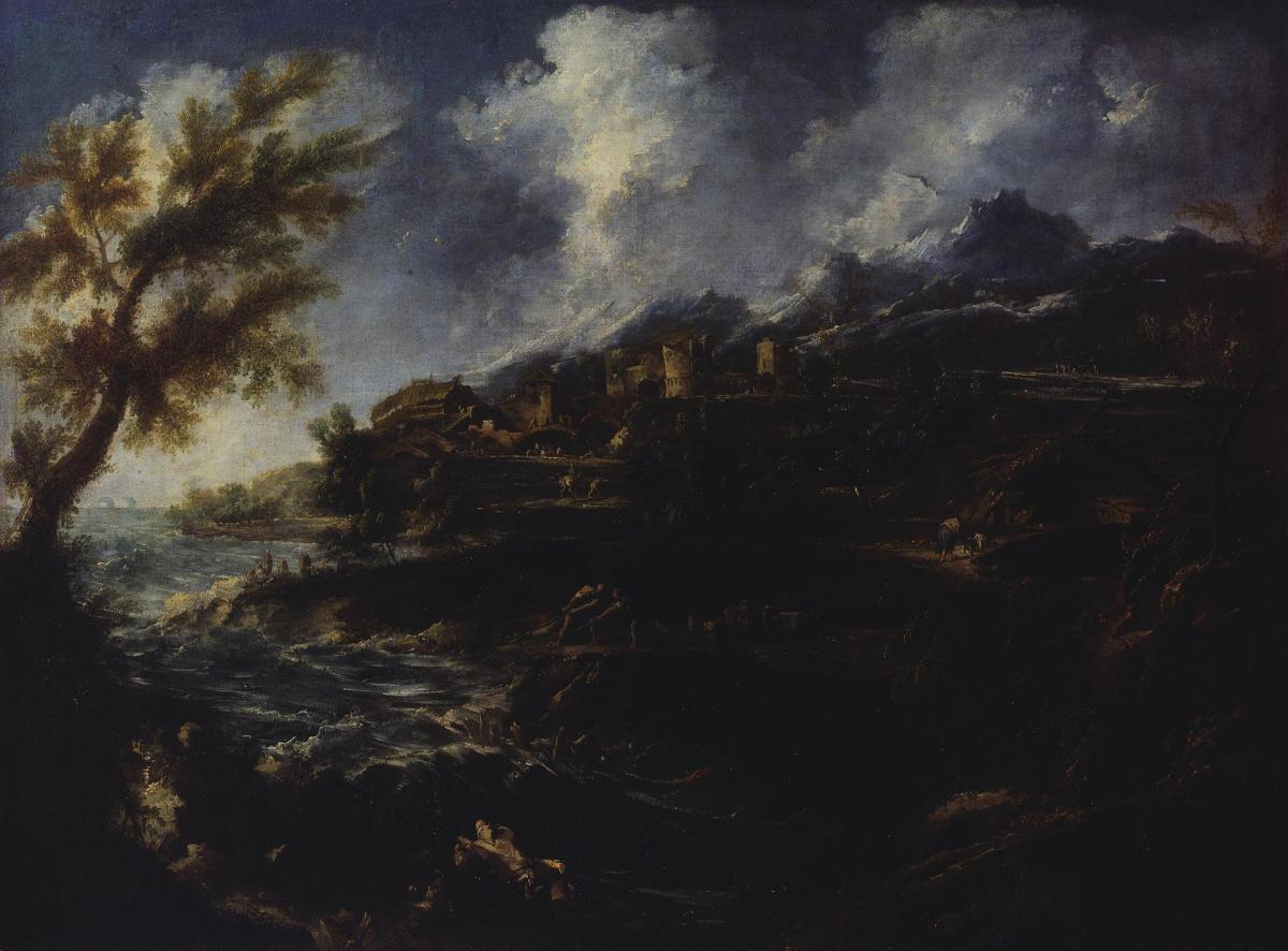 The Seashore by Alessandro Magnasco
