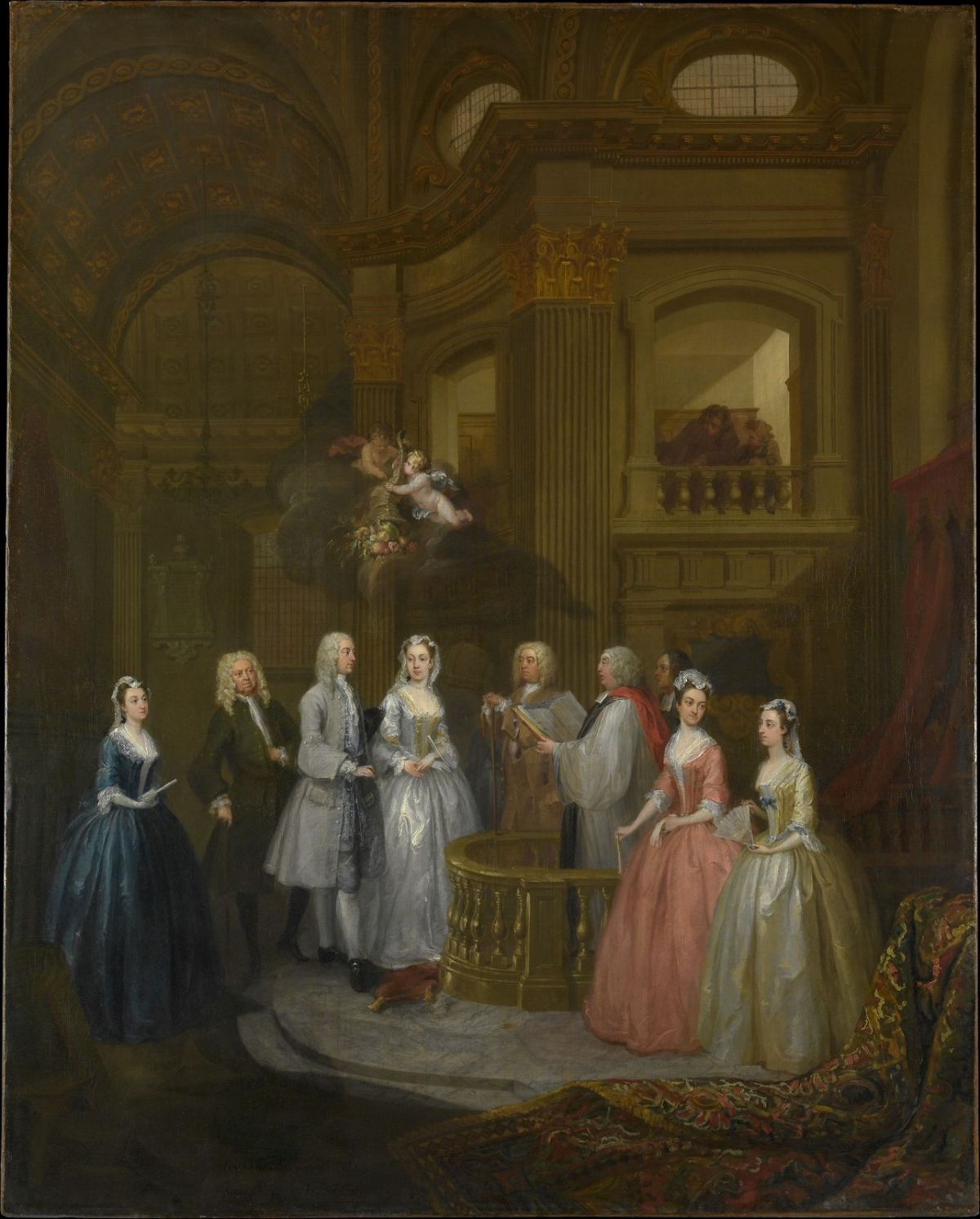 The Wedding of Stephen Beckingham and Mary Cox by William Hogarth