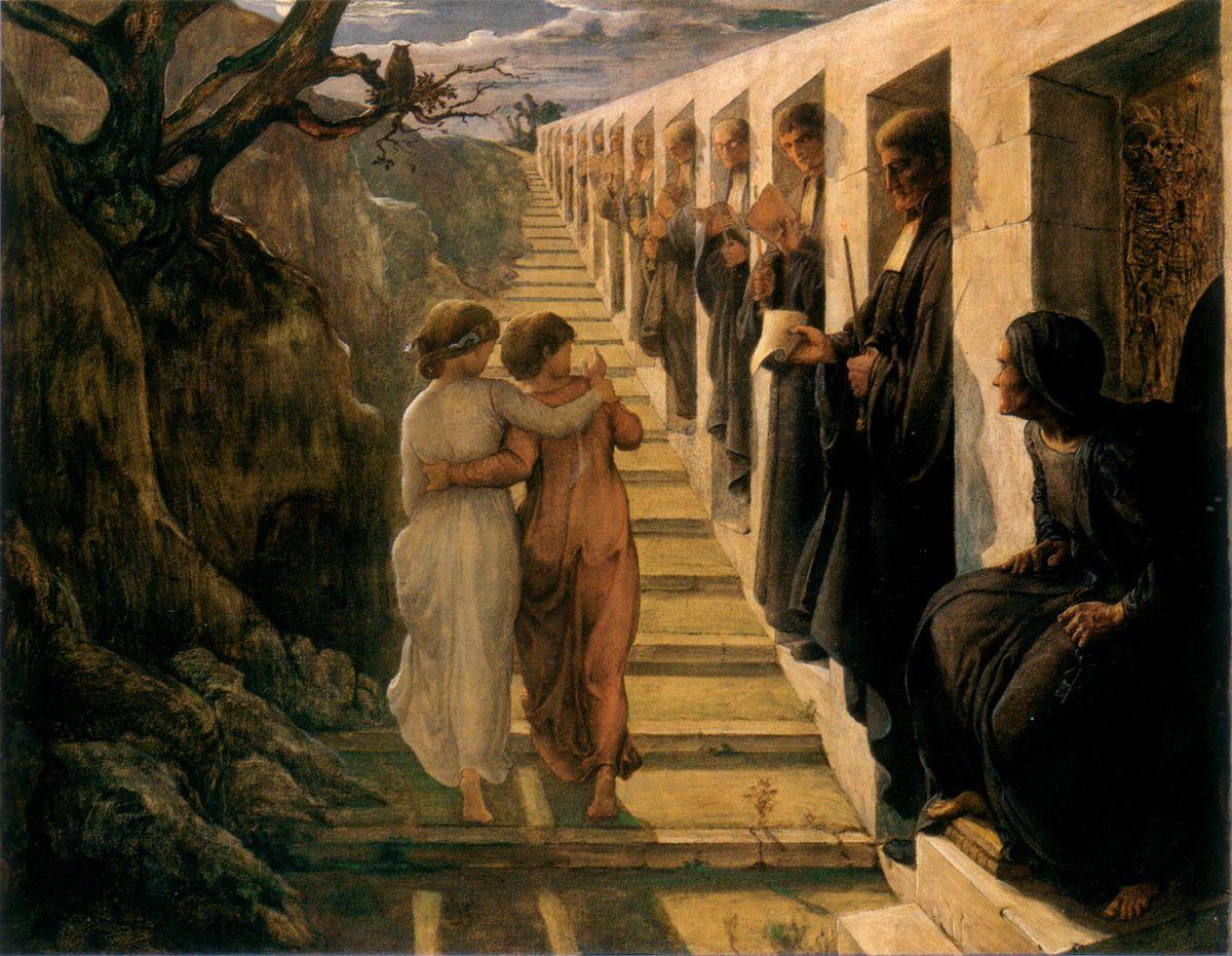 Le Poeme de lame Le Mauvais sentier by Anne Francois Louis Janmot