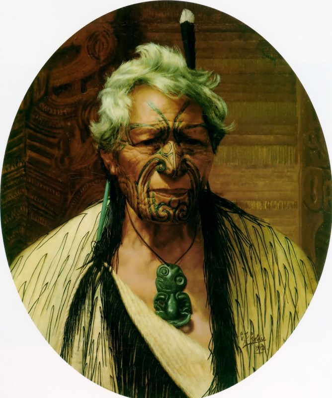 A Noble Northern Chief, Atama Paparangi by Charles Goldie
