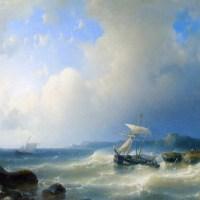 A Rocky Coast by Abraham Hulk Snr