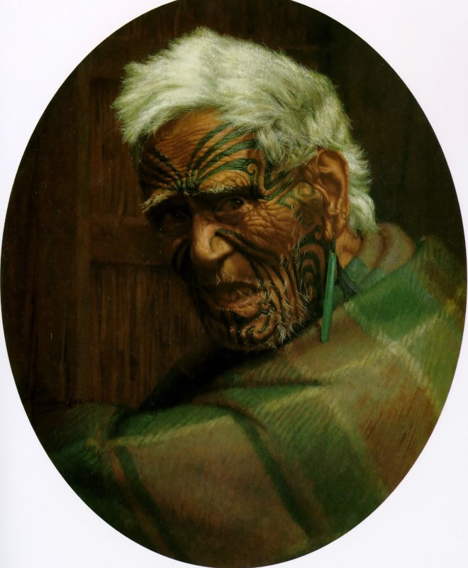 A centenarian, Aperahama, aged 104 by Charles Goldie