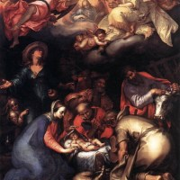Adoration of the Shepherds by Abraham Bloemaert