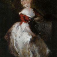 Her Favorite Companion by Narcisse Virgile Diaz De La Pena