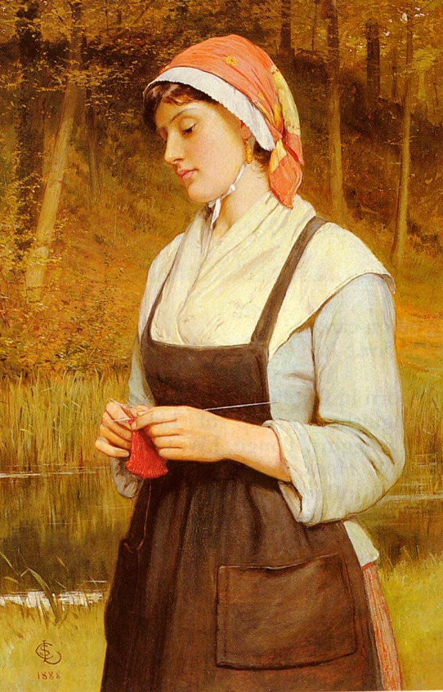 Knitting by Charles Sillem Lidderdale