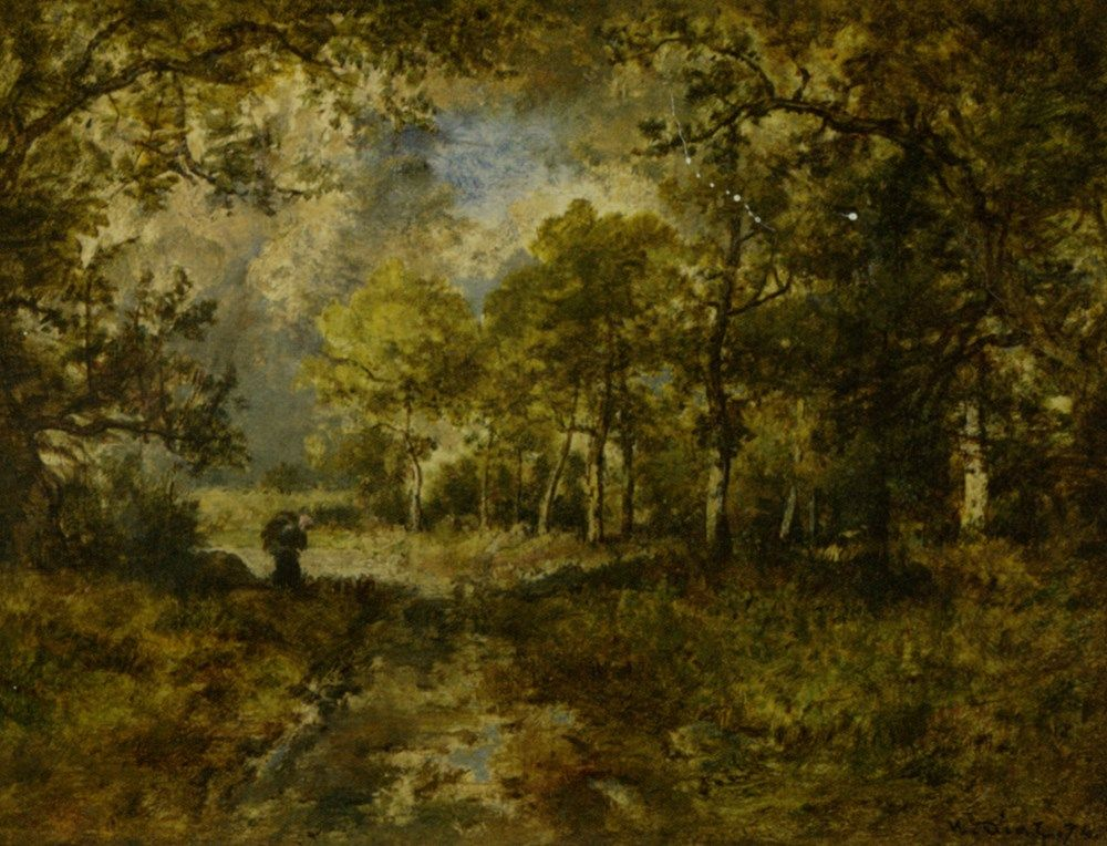 La Foret de Fountainebleau by Narcisse Virgile Diaz de la Pena