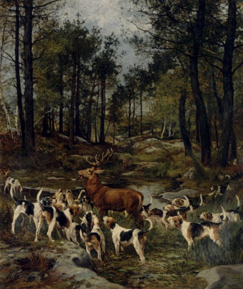 The Deer Hunt by Charles Olivier De Penne