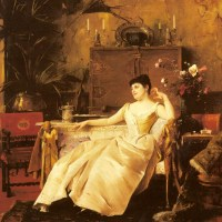 A Portrait of the Princess Soutzo by Mihaly Munkacsy