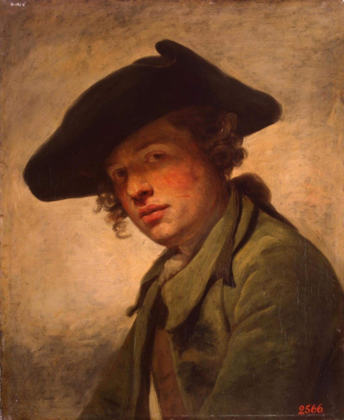 A Young Man in a Hat by Jean Baptiste Greuze