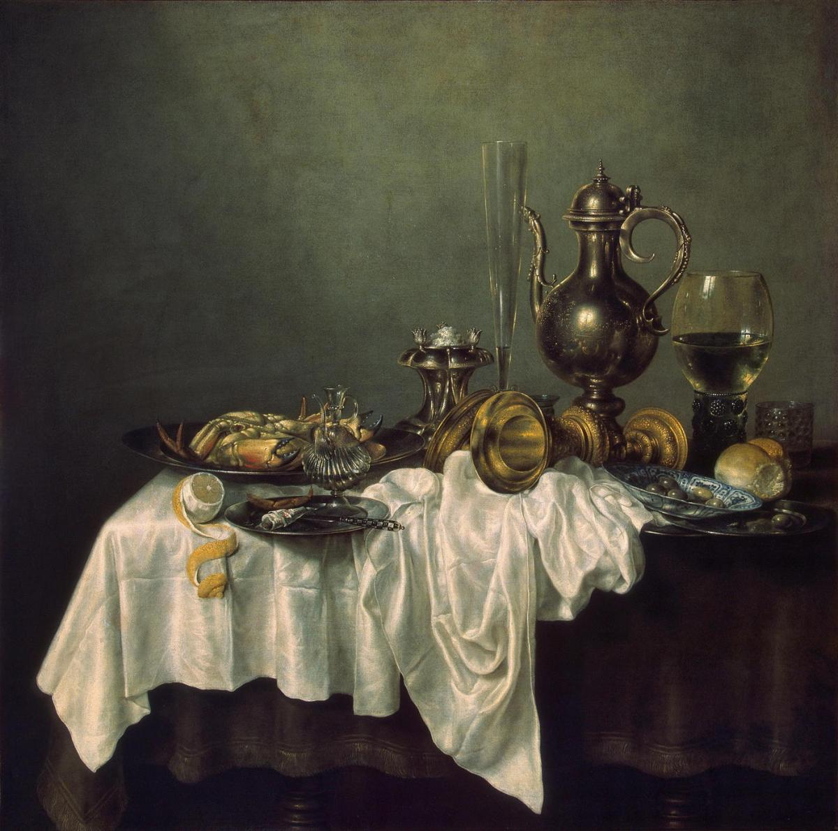 Breakfast of Crab by Willem Claesz Heda