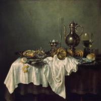 Breakfast of Crab by Willem Claesz Heda