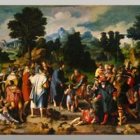 Christ healing the Blind by Lucas van Leyden