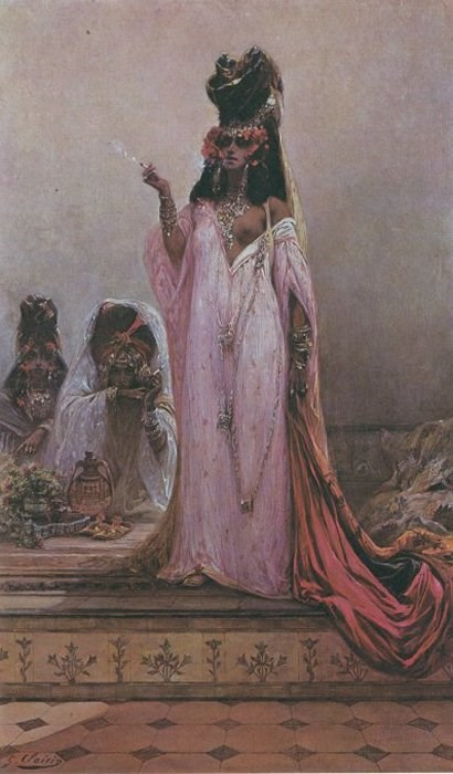 Harem Woman by Georges Jules Victor Clairin
