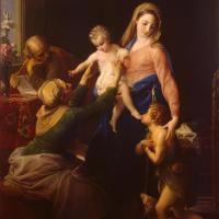 Holy Family by Pompeo Girolamo Batoni