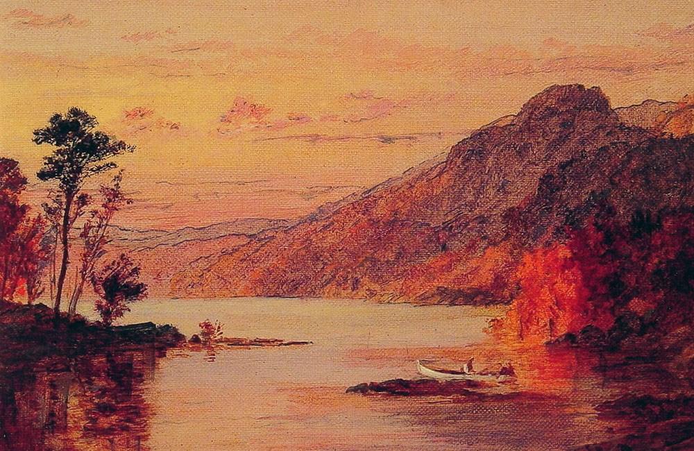 Lake Scene Catskill Mountains by Jasper Francis Cropsey