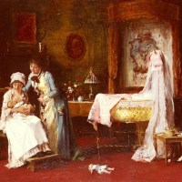 Maternal Happiness by Mihaly Munkacsy