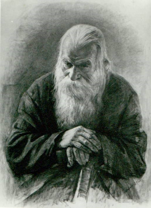 Old man with a cane by Igor V. Babailov
