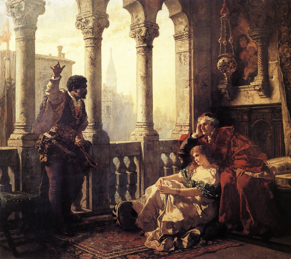 Othello Relating His Adventures to Desdemona by Carl Ludwig Friedrich Becker