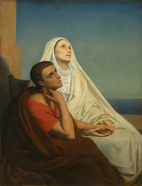 Saint Augustine and His Mother, Saint Monica by Ary Scheffer