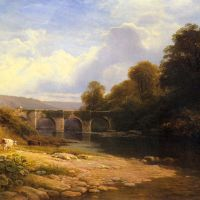 Staveton Bridge, Devon by George Vicat Cole