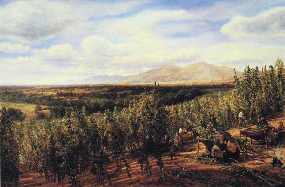 The Hop Gardens by George Vicat Cole