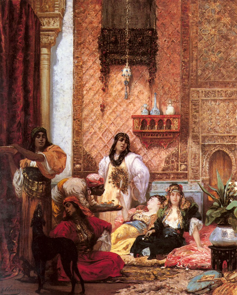 The Sultan's Favorites by Georges Jules Victor Clairin