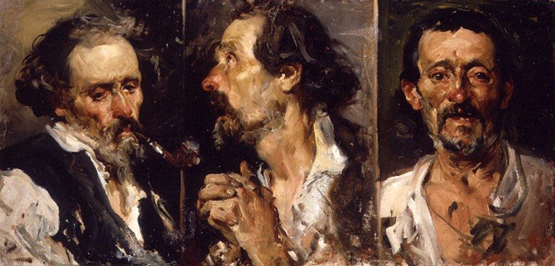 Tres cabezas de estudio by Joaquin Sorolla y Bastida