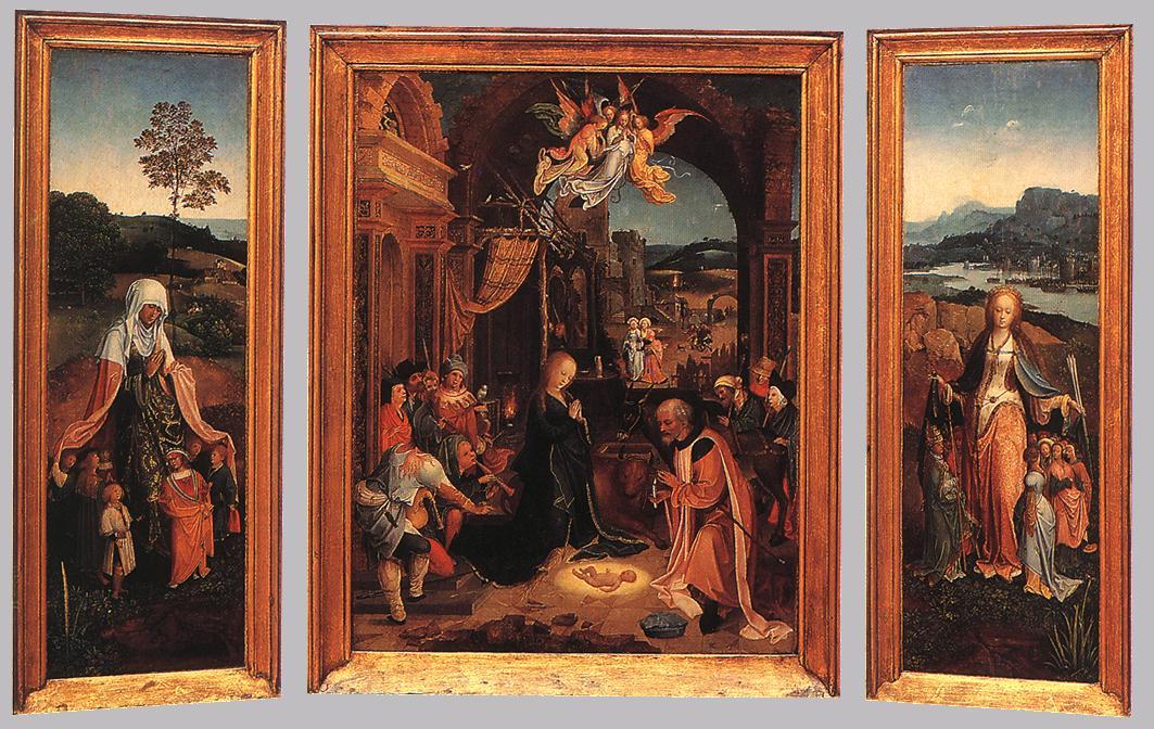 Triptych by Jan de Beer