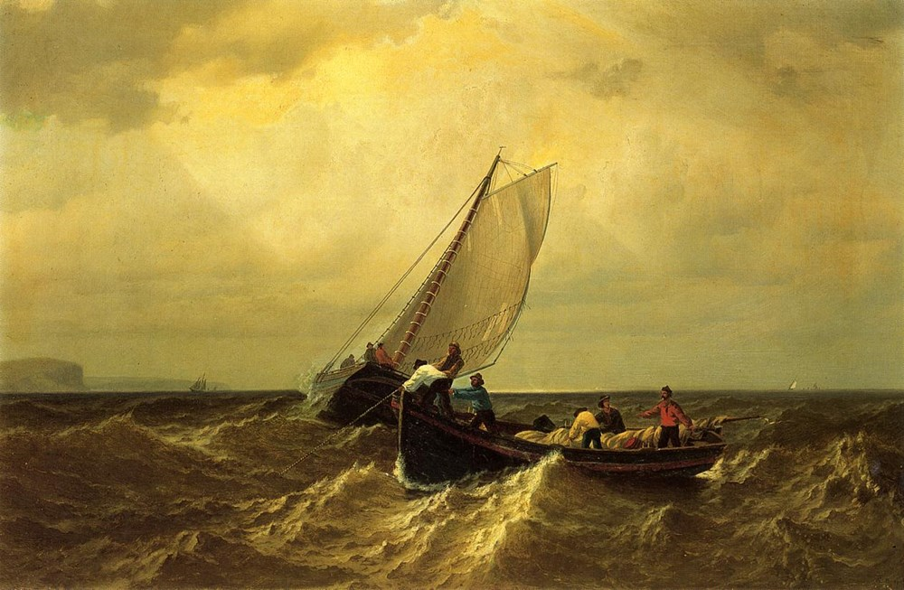 Fishing Boats on the Bay of Fundy by William Bradford