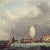 Shipping off the Dutch Coast by Hermanus Koekkoek Snr